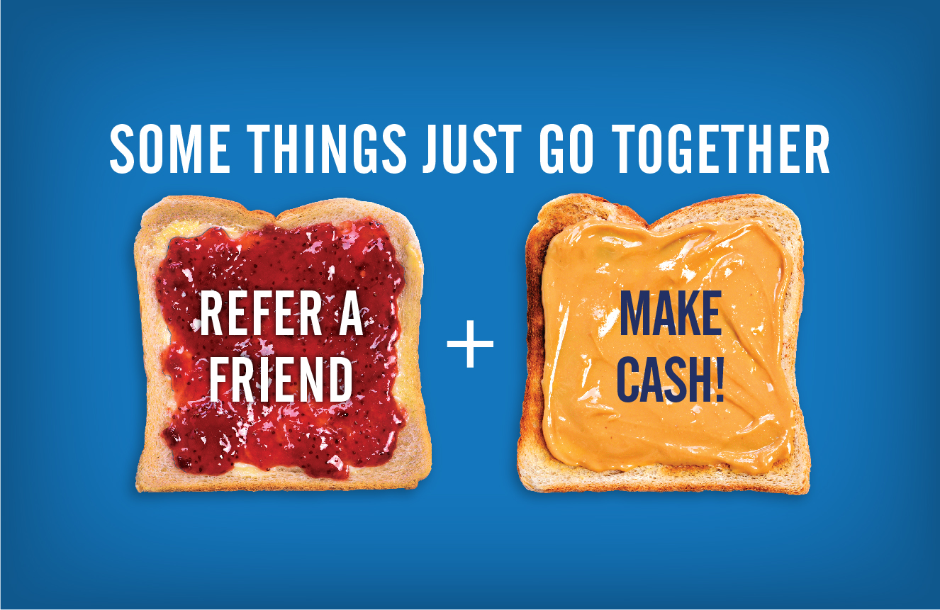 peanut butter and jelly refer a friend