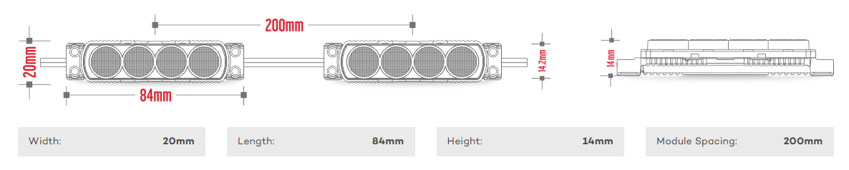 edge module 4WE240-6500 spacing and specs